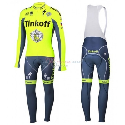 Tinkoff Cycling Jersey Kit Long Sleeve 2016 Yellow And Blue