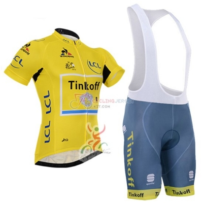 Tinkoff Cycling Jersey Kit Short Sleeve 2016 Yellow And Black