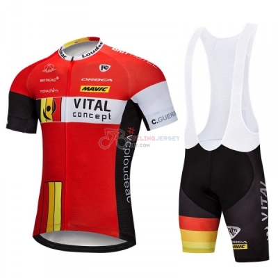 Vital Concept Cycling Jersey Kit Short Sleeve 2018 Red White
