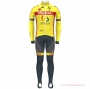Wallonie Bruxelles Cycling Jersey Kit Long Sleeve 2021 Yellow