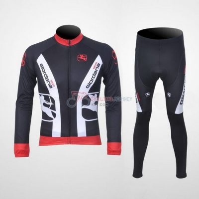 Giordana Cycling Jersey Kit Long Sleeve 2011 Red And Black