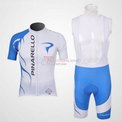 Pinarello Cycling Jersey Kit Short Sleeve 2011 Blue And White