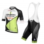 2016 Team Multivan Merida green white Short Sleeve Cycling Jersey And Bib Shorts Kit