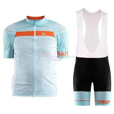 2018 Craft Route Cycling Jersey Kit Short Sleeve Light Blue