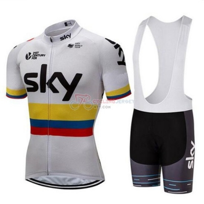 2018 Sky Cycling Jersey Kit Short Sleeve Campione Colombia