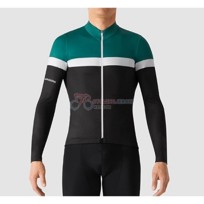 La Passione Cycling Jersey Kit Long Sleeve 2019 Green White Black
