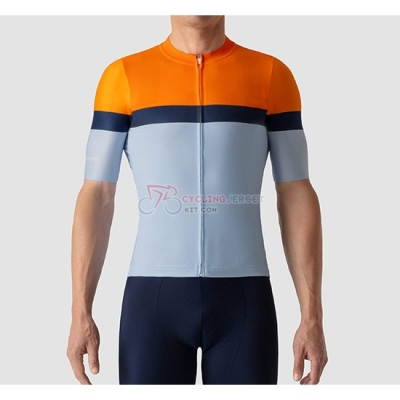 La Passione Cycling Jersey Kit Short Sleeve 2019 Orange Blue