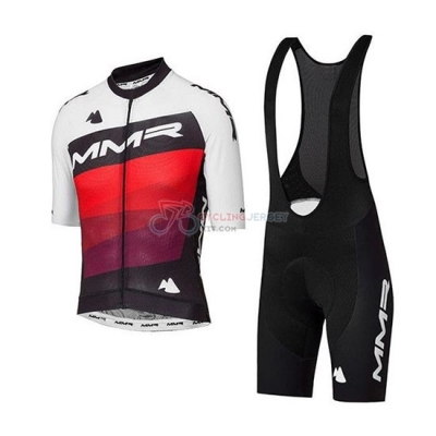 MMR Cycling Jersey Kit Short Sleeve 2020 White Black Red