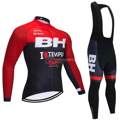 BH Templo Cycling Jersey Kit Long Sleeve 2021 Red Black