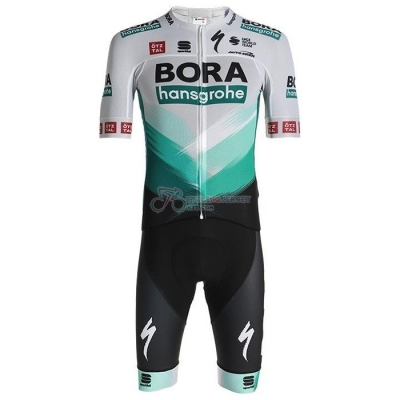 Bora-Hansgrone Cycling Jersey Kit Short Sleeve 2021 White Green Black
