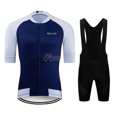 NDLSS Cycling Jersey Kit Short Sleeve 2020 White Blue