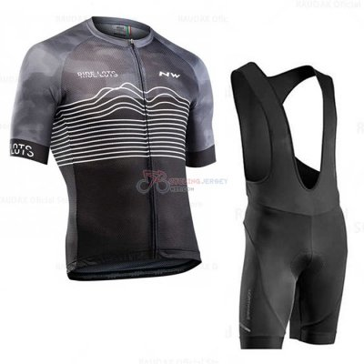 Northwave Cycling Jersey Kit Short Sleeve 2020 Gray Black