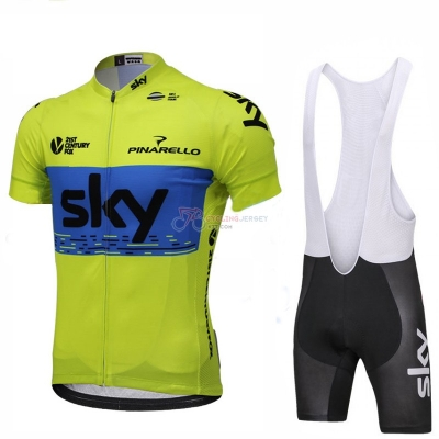 Sky Cycling Jersey Kit Short Sleeve 2018 Green and Blue