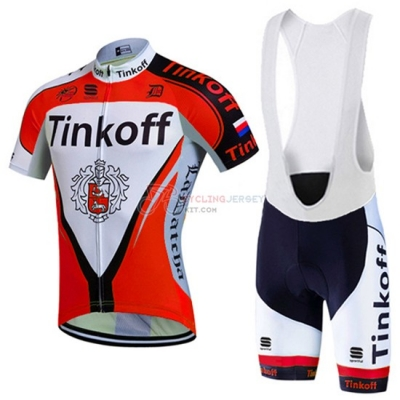 Tinkoff Cycling Jersey Kit Short Sleeve 2016 Red And White