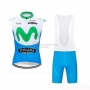 Wind Vest 2019 Movistar White Blue Green