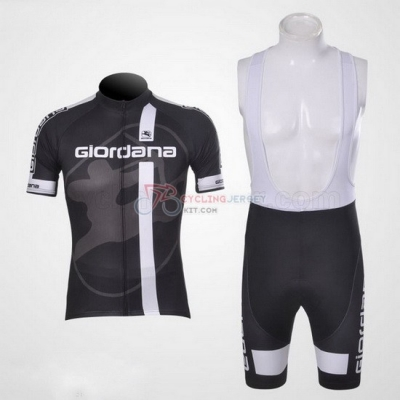Giordana Cycling Jersey Kit Short Sleeve 2011 Black And Gray