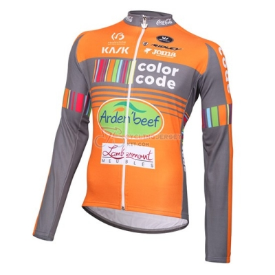 2015 Team Color Code orange Short Sleeve Cycling Jersey And Bib Shorts Kit