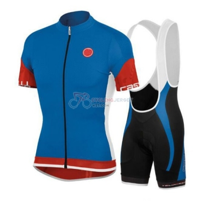 Castelli Cycling Jersey Kit Short Sleeve 2015 Blue And Red