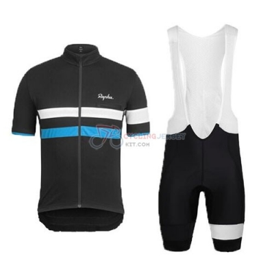 Rapha Cycling Jersey Kit Short Sleeve 2015 Black And Blue