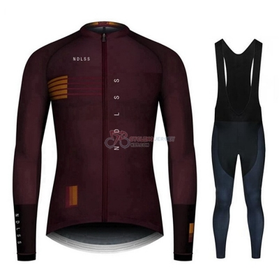 NDLSS Cycling Jersey Kit Long Sleeve 2020 Brown Red