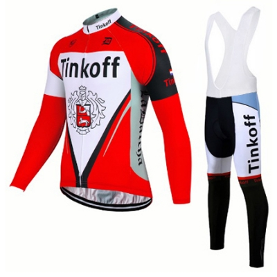 Tinkoff Cycling Jersey Kit Long Sleeve 2017 yellow