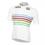 UCI Cycling Jersey Kit Short Sleeve 2020 White Multicoloured