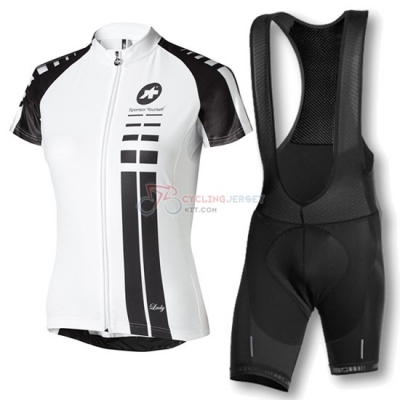 Women Assos Cycling Jersey Kit Short Sleeve 2016 Black And White