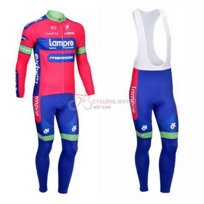 Lampre Cycling Jersey Kit Long Sleeve 2013 Pink And Sky Blue