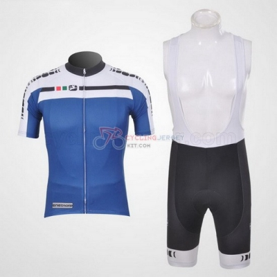 Giordana Cycling Jersey Kit Short Sleeve 2011 White And Blue