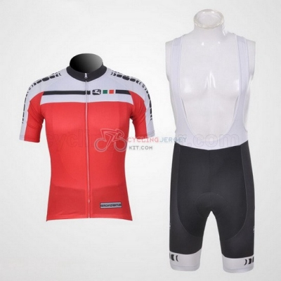 Giordana Cycling Jersey Kit Short Sleeve 2012 White And Red