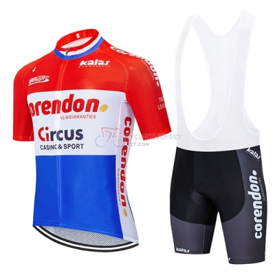 Corendon Circo Cycling Jersey Kit Short Sleeve 2019 Red White Blue
