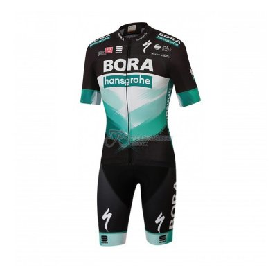Bora-hansgrone Cycling Jersey Kit Short Sleeve 2020 Black Green