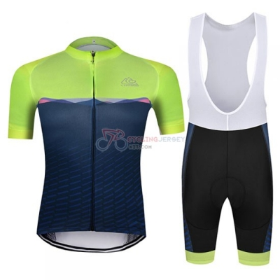 Chomir Cycling Jersey Kit Short Sleeve 2019 Green Spento Blue