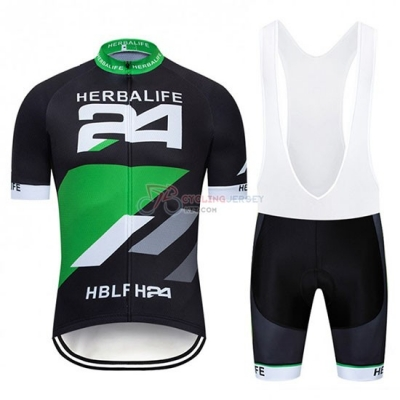 Herbalifr 24 Cycling Jersey Kit Short Sleeve 2019 Black Green