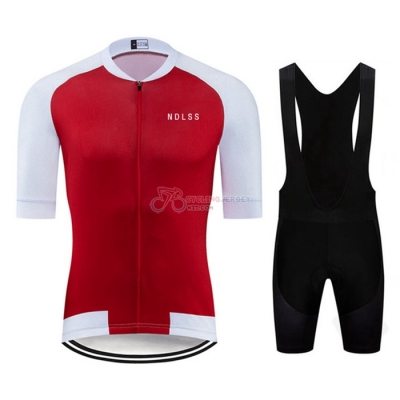 NDLSS Cycling Jersey Kit Short Sleeve 2020 White Red