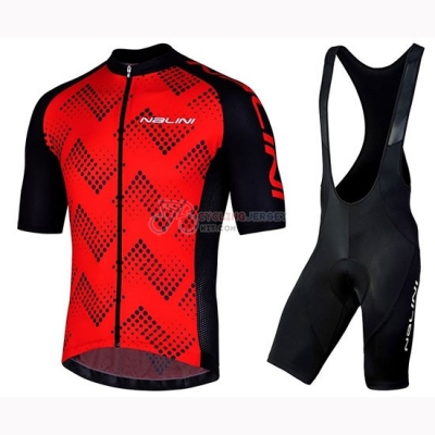 Nalini Podio 2.0 Cycling Jersey Kit Short Sleeve 2019 Black Red