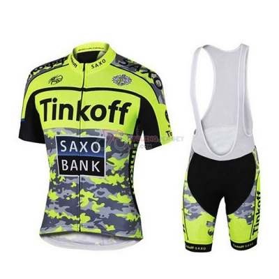 Tinkoff Cycling Jersey Kit Short Sleeve 2019 Yellow Green Black