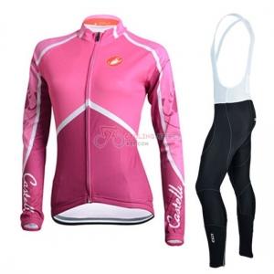 Women Cycling Jersey Kit Bianchi Long Sleeve 2015 White And Pink ... 1db8b3467