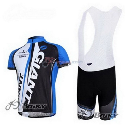 Giant Cycling Jersey Kit Short Sleeve 2011 Blue And Black