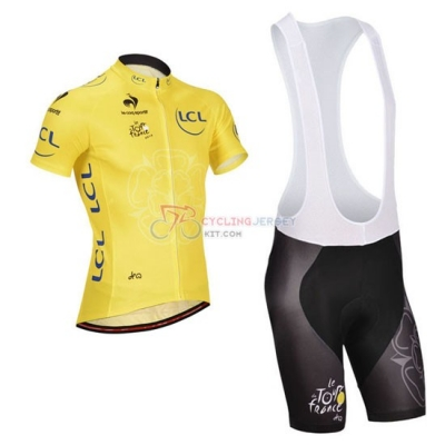 Tour De France Cycling Jersey Kit Short Sleeve 2014 Yellow