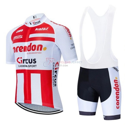 Corendon Circo Cycling Jersey Kit Short Sleeve 2019 Red White