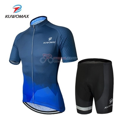 Kuwomax Cycling Jersey Kit Short Sleeve 2019 Blue