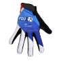 2020 FDJ Long Finger Gloves White Blue Black