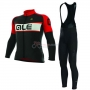 ALE Excel Weddell Long Sleeve Cycling Jersey and Bib Pant Kit 2017 red