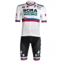 Bora Cycling Jersey Kit Short Sleeve 2021 White Belgium