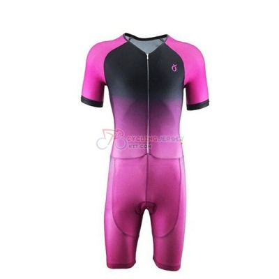 Emonder-triathlon Cycling Jersey Kit Short Sleeve 2019 Pink Black