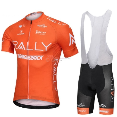 Rally Cycling Jersey Kit Short Sleeve 2018 Orange