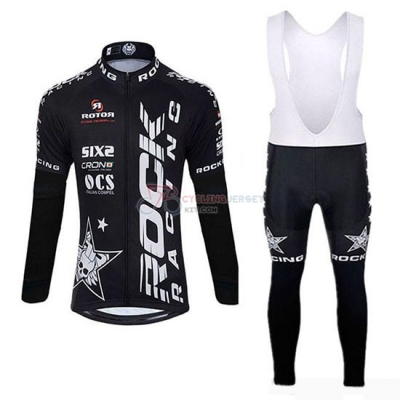 Rock Racing SIDI Cycling Jersey Kit Long Sleeve 2019 Black(2)