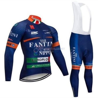 Vini Fantini Cycling Jersey Kit Long Sleeve 2019 Blue