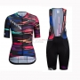 Women Canyon Sram Cycling Jersey Kit Short Sleeve 2019 Black Red